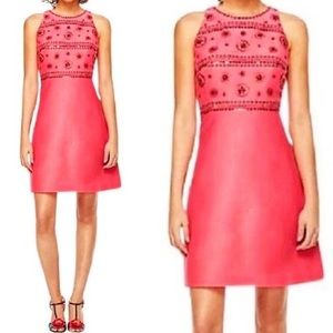 Kate Spade Spice Things Up Embellished Dress Pink